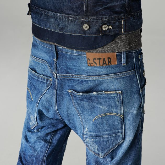 arc 3d slim jeans medium aged destroy g star raw. Black Bedroom Furniture Sets. Home Design Ideas