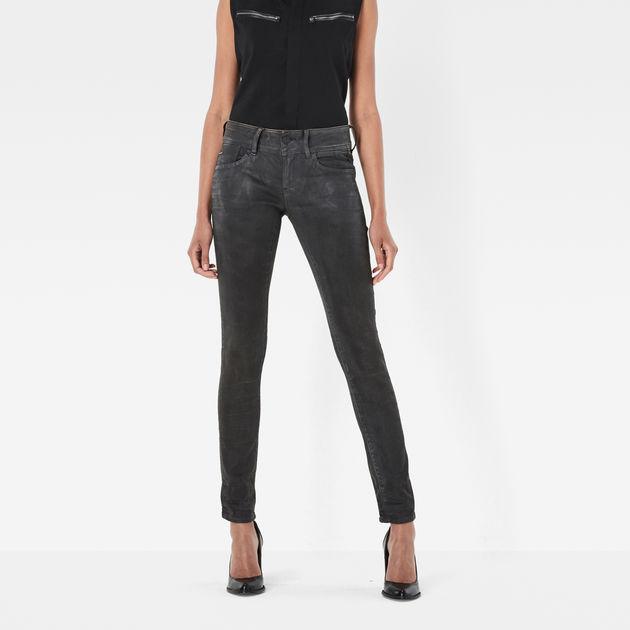 G-Star Womens Lynn Zip Skinny Jeans G-Star
