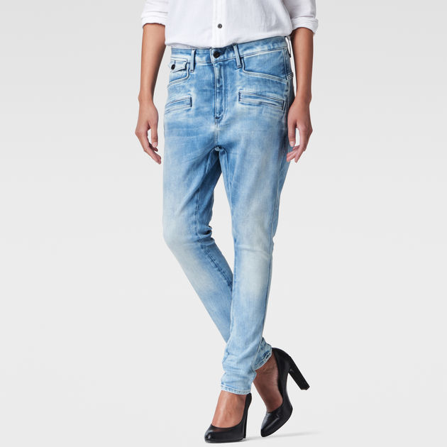 g star boyfriend jeans g star raw g star type c boyfriend jeans in blue lyst g star g star. Black Bedroom Furniture Sets. Home Design Ideas