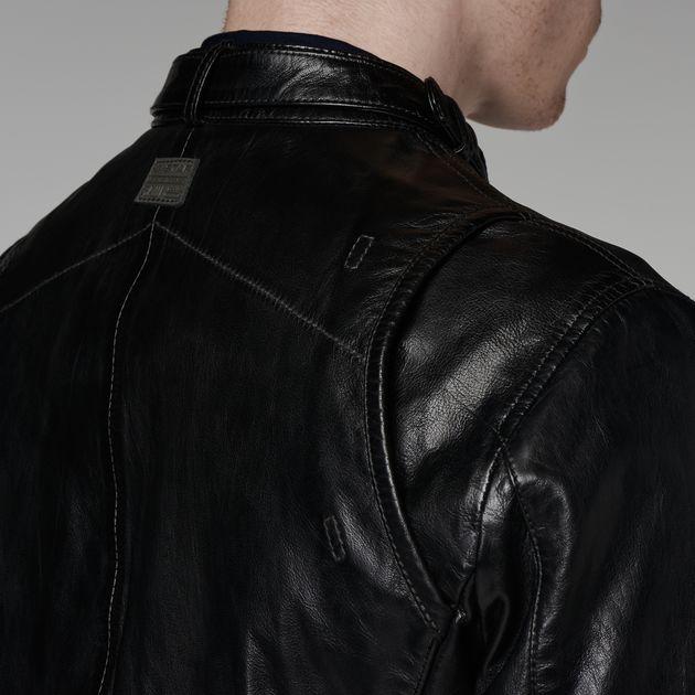 chopper leather jacket black men g star raw. Black Bedroom Furniture Sets. Home Design Ideas