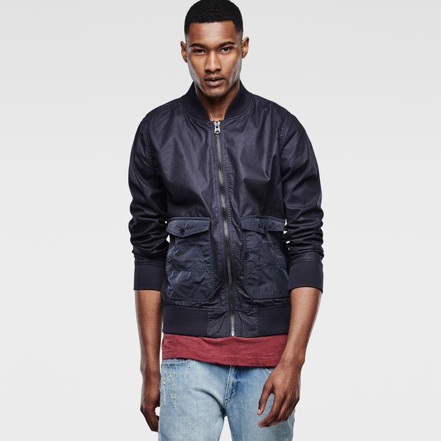 G-Star RAW Mens A Crotch 3D Slim Bomber Jacket Mens Coats Mens Coats COLOUR-black