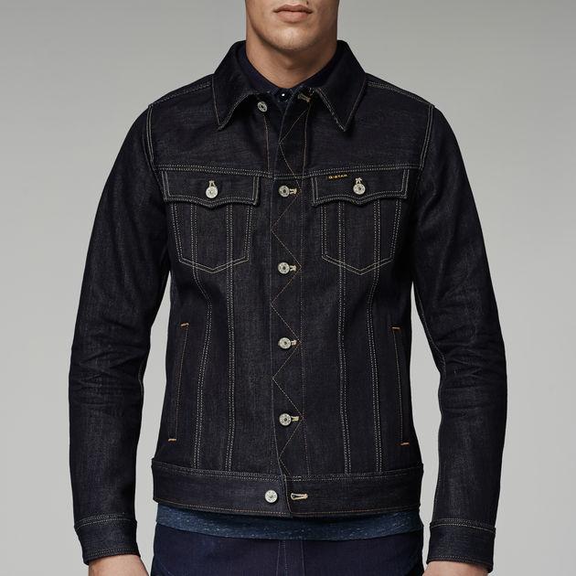 slim tailor 3d jacket raw denim men sale g star raw. Black Bedroom Furniture Sets. Home Design Ideas