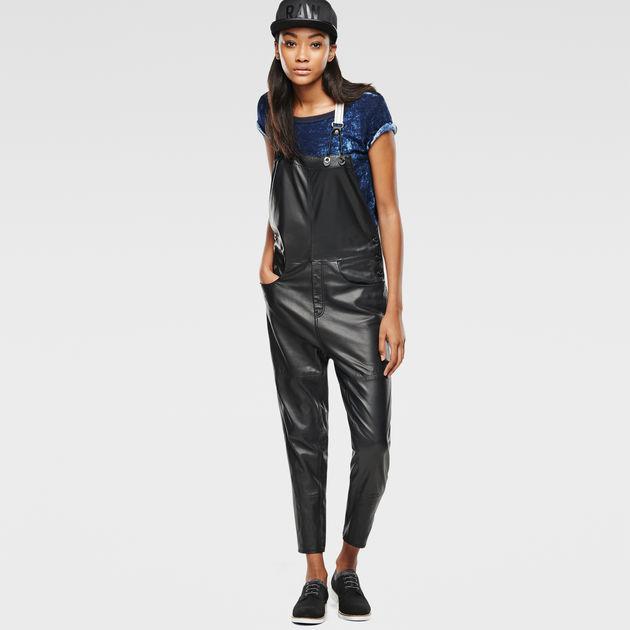 41c03bd0f5b3e Type C Leather Salopette   black   G-Star Sale Women   G-Star RAW