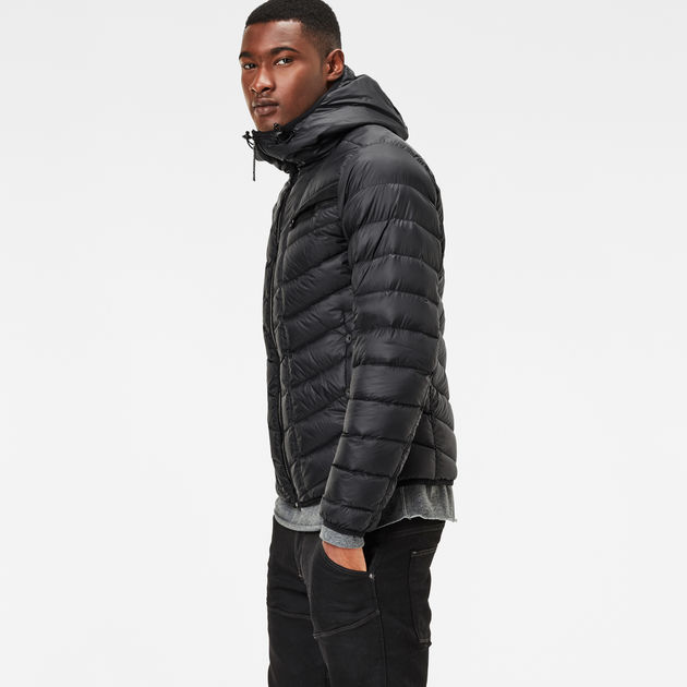 601b13daa2f62 Attacc Solid Hooded Down Jacket   black   G-Star RAW®