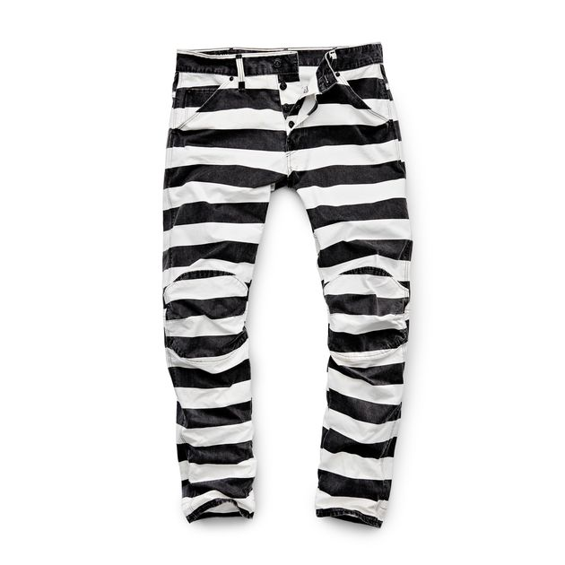 5622 Elwood X 25 Pharrell Jean in Stripe Print - Prison stripe G-Star