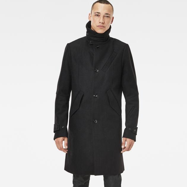 empral wool coat black g star sale heren g star raw. Black Bedroom Furniture Sets. Home Design Ideas