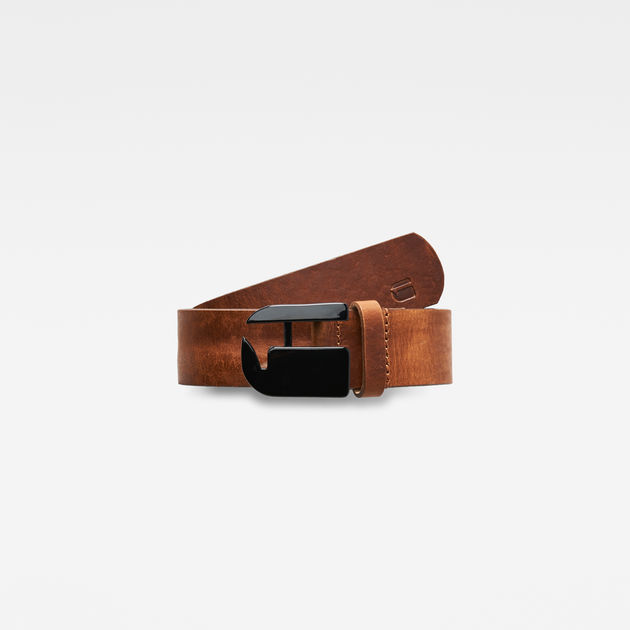 Rikku Logo Pin Belt   dk brown shiny black   G-Star RAW® 33c325c90ed