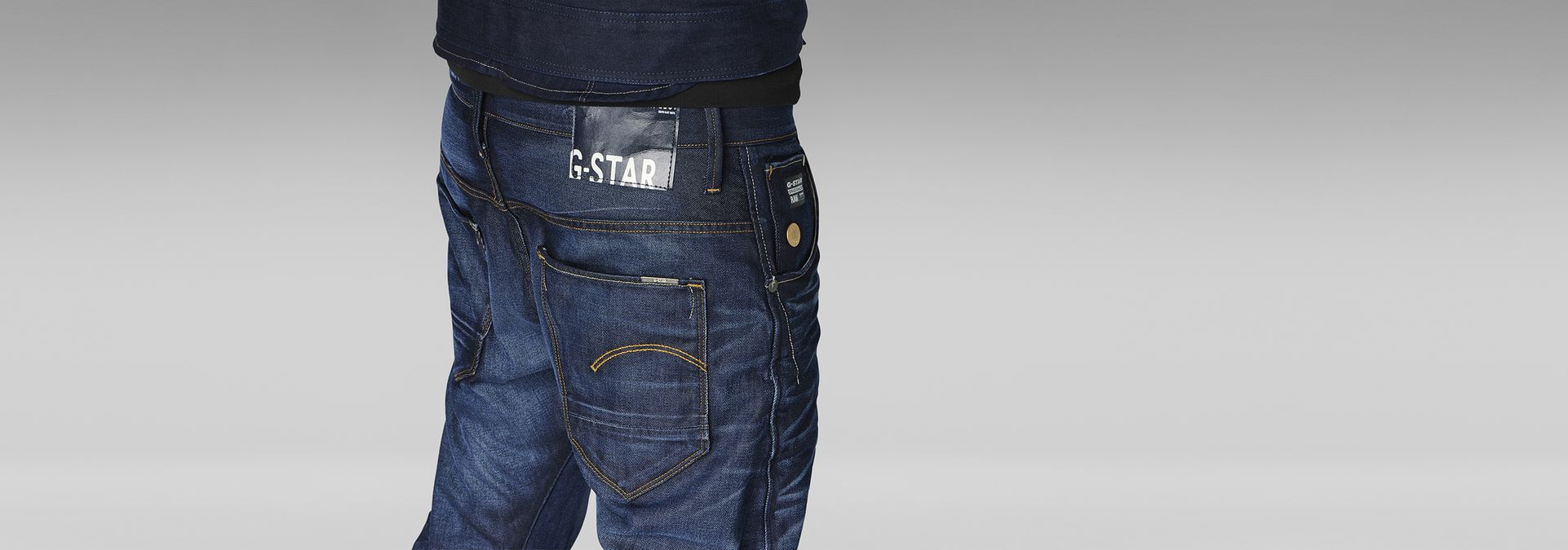 3301 low waist tapered jeans medium aged g star raw. Black Bedroom Furniture Sets. Home Design Ideas