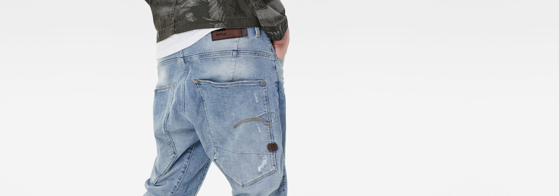 ... G-Star RAW® Type C 3D Tapered Jeans Light blue ...