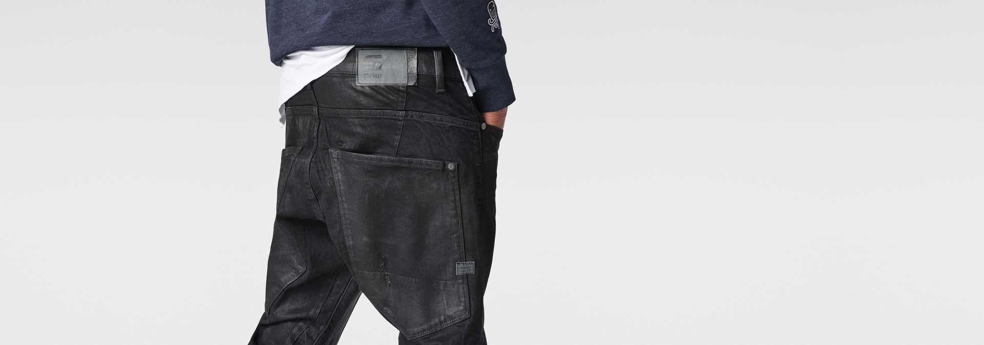 ... G-Star RAW® Type C Zip 3D Tapered Jeans Black ...