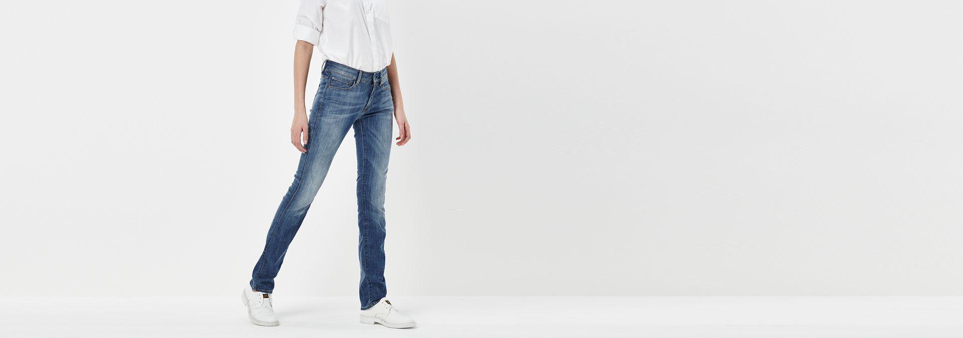 3301 contour high straight jeans medium aged g star raw. Black Bedroom Furniture Sets. Home Design Ideas