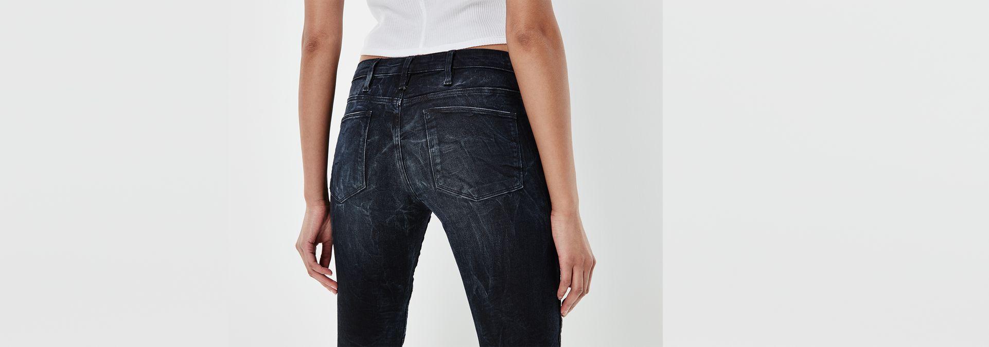 ... G-Star RAW® 5620 Custom Mid Skinny Jeans Dunkelblau ...