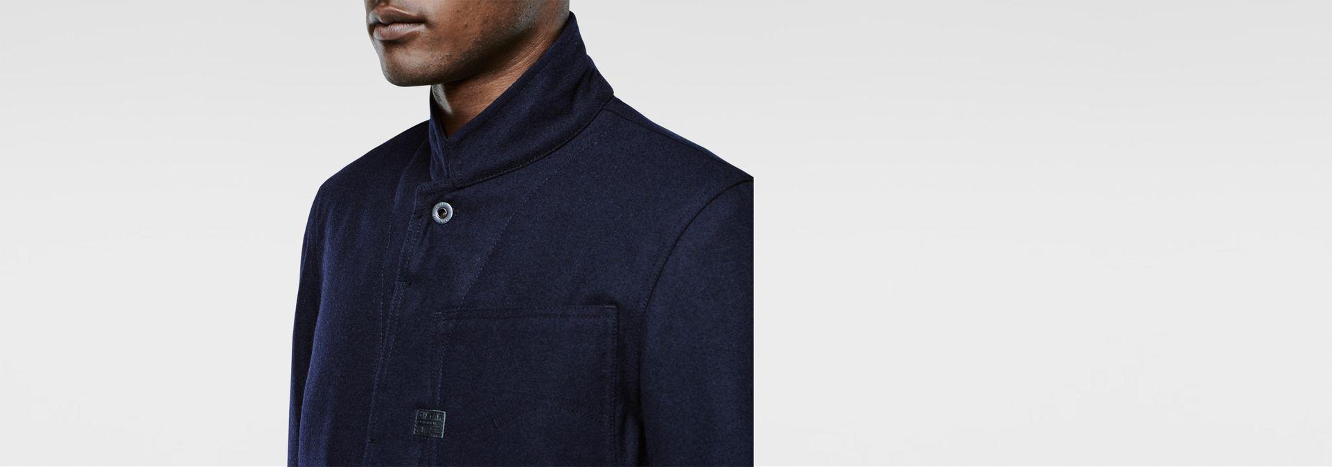 ... G-Star RAW® Type C Wool Worker Jacket Dark blue flat front