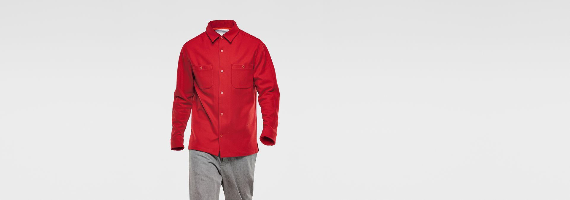 marc newson overshirt pompeian red men sale g star raw. Black Bedroom Furniture Sets. Home Design Ideas