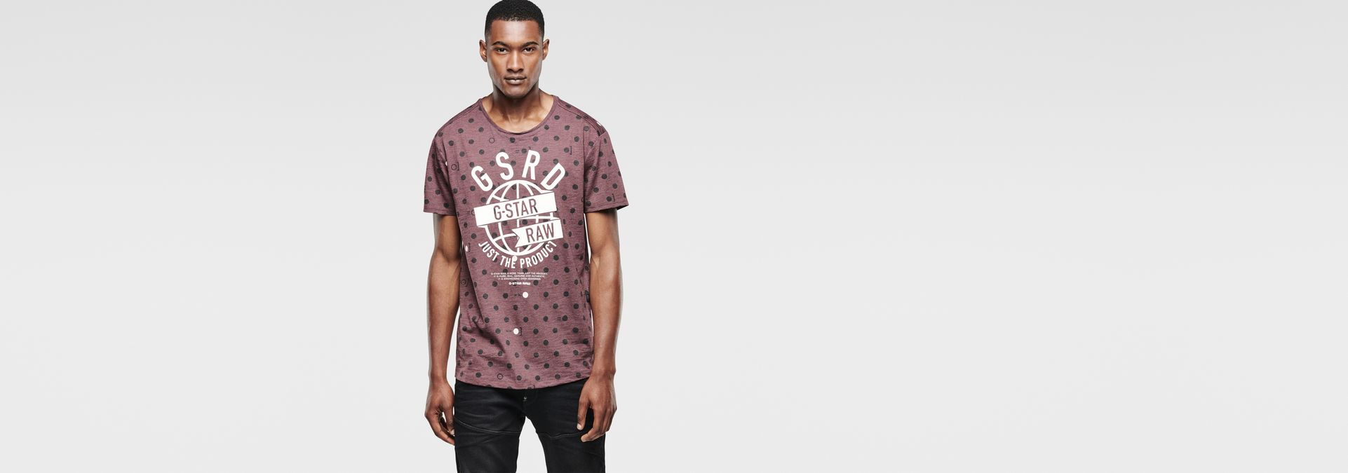 G-Star Men's Novak Round Collar Short Sleeve T-Shirt