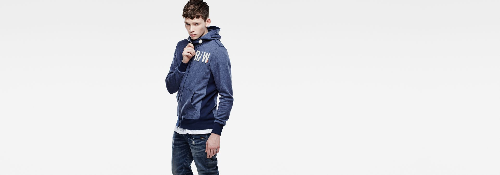 Netrol Hooded Sweater | Sapphire Bl Htr | Men Sale | G-Star RAW®