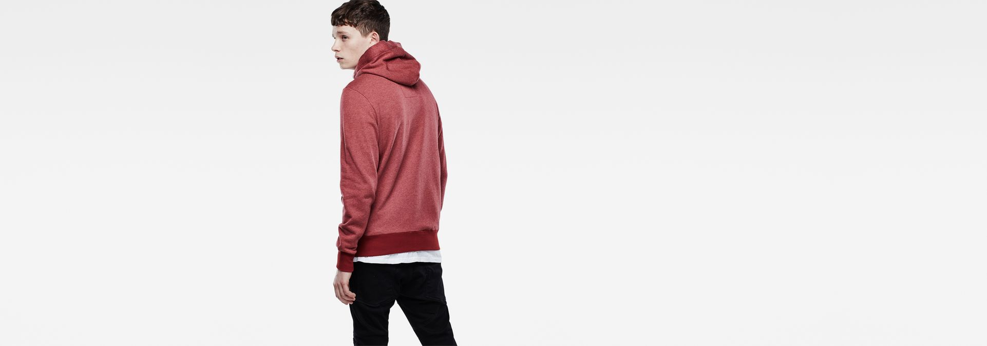 Netrol Hooded Sweater | Dry Red Htr | Men Sale | G-Star RAW®