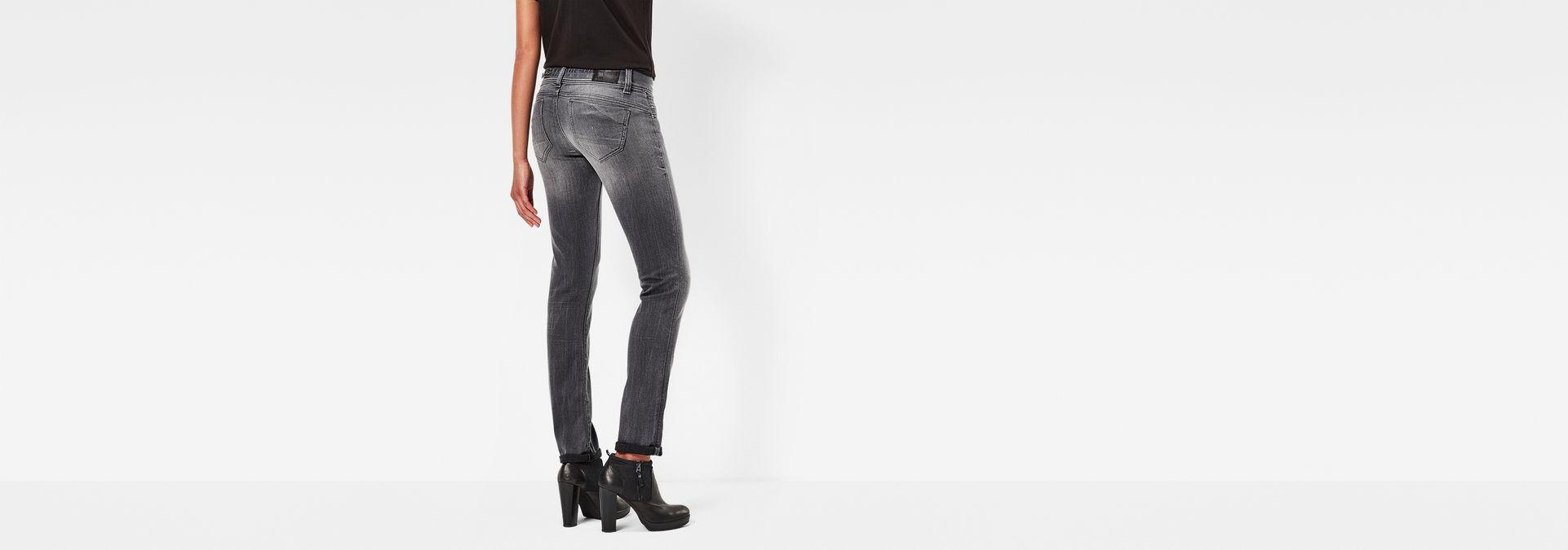 midge saddle mid waist straight jeans medium aged g star raw. Black Bedroom Furniture Sets. Home Design Ideas
