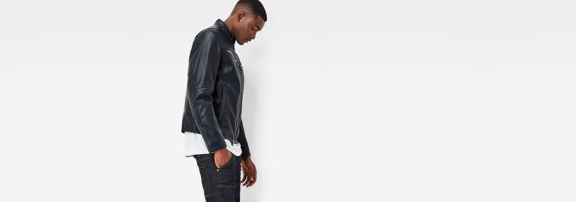 Mower Gpl Jacket Mazarine Blue G Star Sale Men Raw Black Blazer Jaket Korea Style Sk 15 Dark Model Side