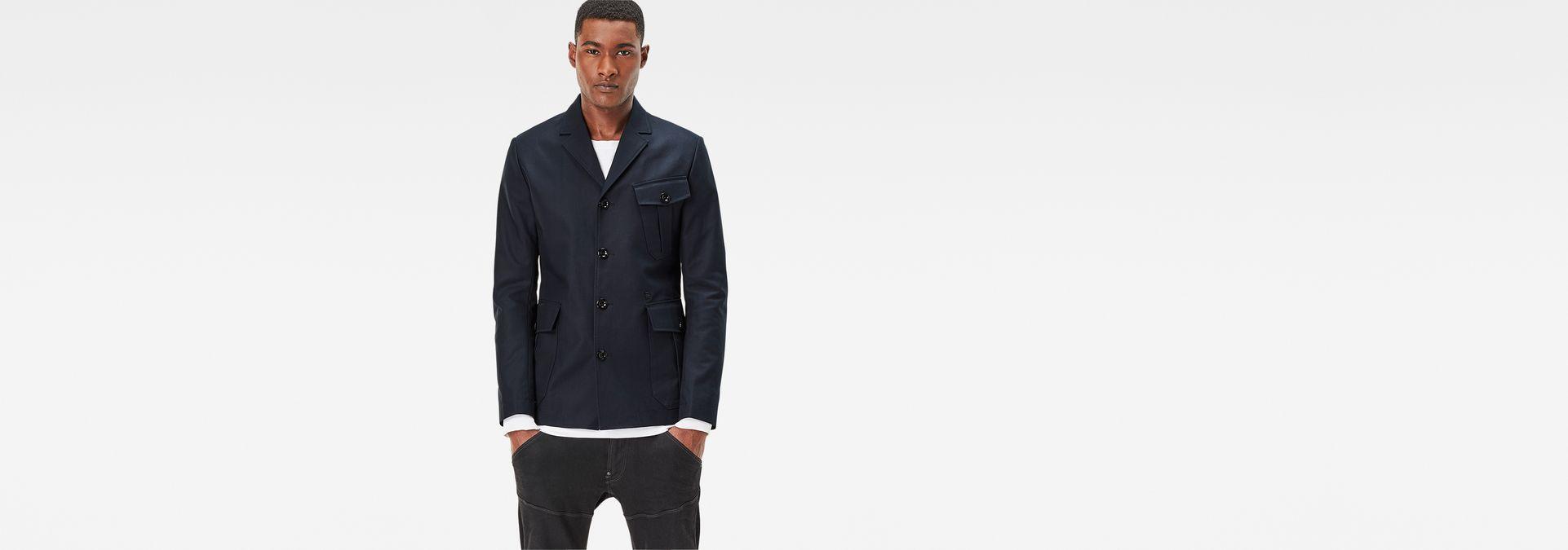 mvn slim blazer mazarine blue men sale g star raw. Black Bedroom Furniture Sets. Home Design Ideas