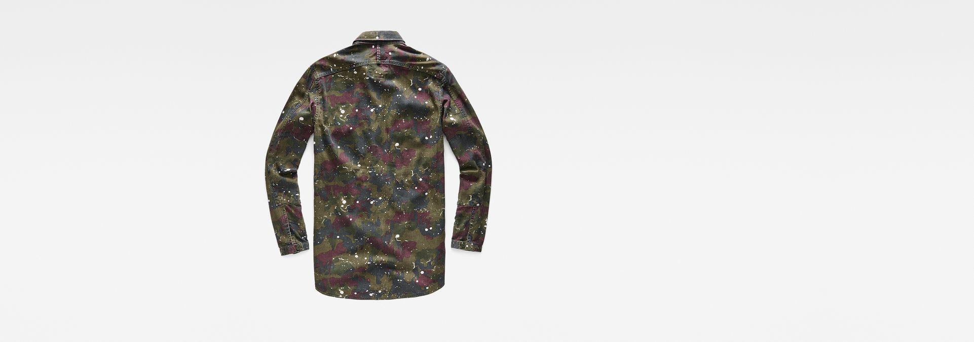 ... G-Star RAW® Type C RC Zip Overshirt Green flat back
