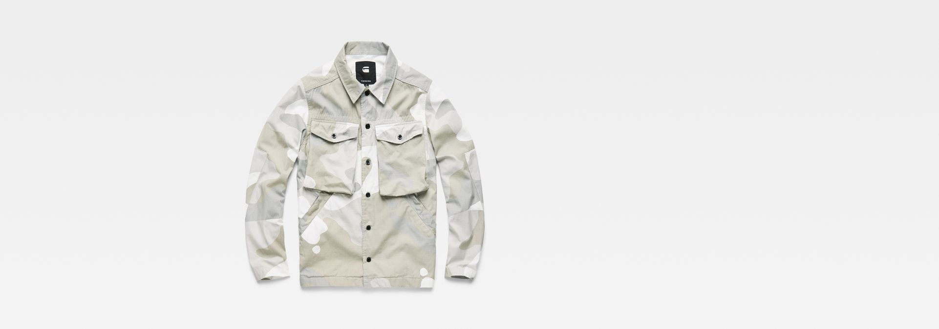 ... G-Star RAW® Type C Army Overshirt Grey flat front ...