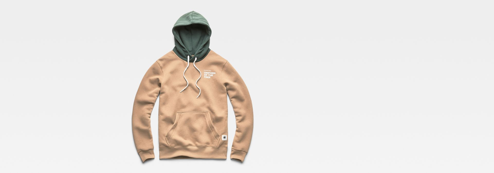 ... G-Star RAW® Core Hooded Sweat Brown flat front ...