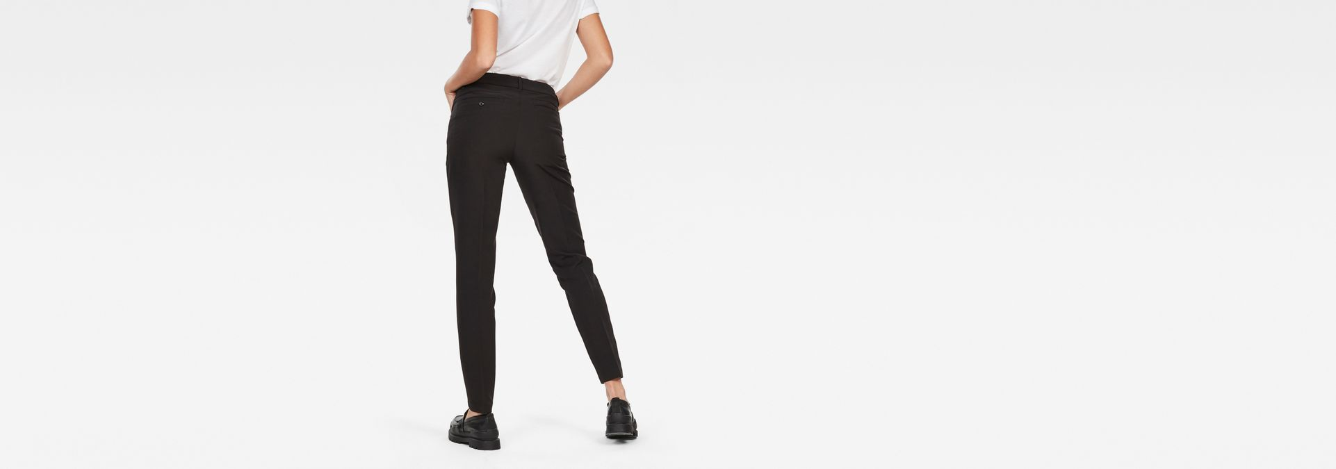 ... G-Star RAW® D-Staq Mid Waist Skinny Ankle Chino Black model back ... 3beb0a6c30a00