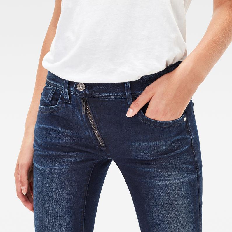 lynn zip mid skinny jeans dk aged g star raw. Black Bedroom Furniture Sets. Home Design Ideas