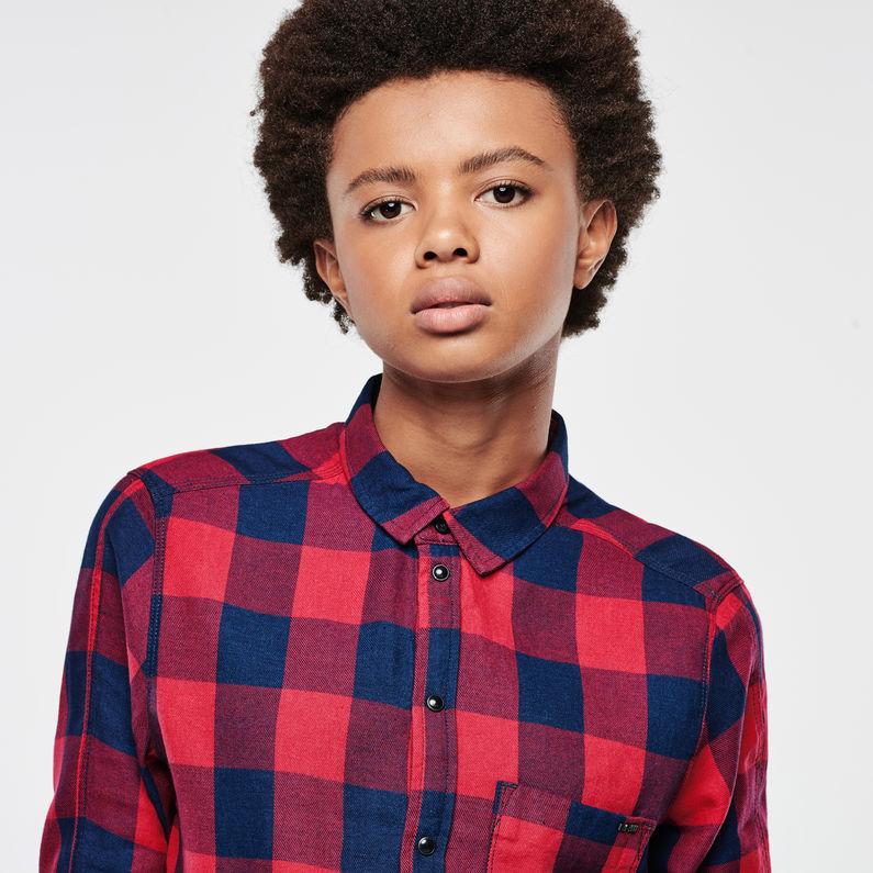 arlee cropped boyfriend shirt rinsed women g star raw. Black Bedroom Furniture Sets. Home Design Ideas