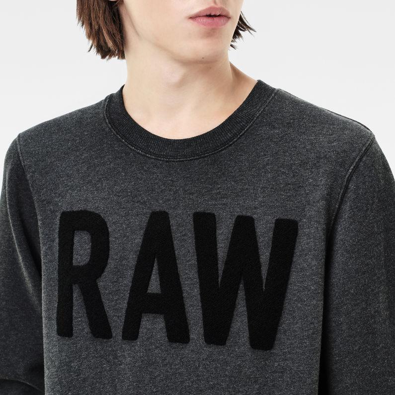 strijsk sweater black htr men sale g star raw. Black Bedroom Furniture Sets. Home Design Ideas