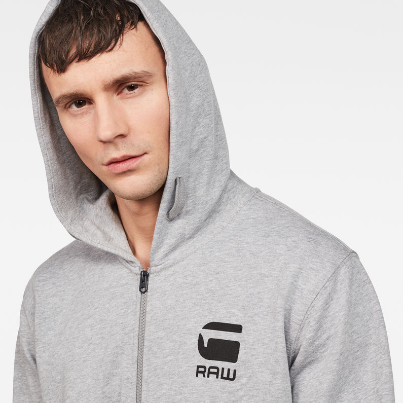 Doax Hooded Zip Thru Sweater | Grey Htr