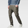 G-Star RAW® Rovic Zip 3D Tapered Pants Grey model front