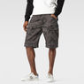 G-Star RAW® Rovic Camo Zip Bermuda Grey model front