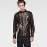 G-Star RAW® Edla Leather Jacket Brown model front