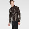 G-Star RAW® Edla Leather Jacket Brown model side