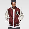G-Star RAW® Baseball Wool Bomber Red model front