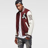 G-Star RAW® Baseball Wool Bomber Red model side