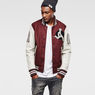 G-Star RAW® Baseball Wool Bomber Red model back