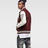 G-Star RAW® Baseball Wool Bomber Red flat front