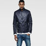 G-Star RAW® A Crotch Varsity Padded Cropped Blazer Dark blue model side
