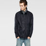 G-Star RAW® A Crotch Indigo Military Coat Dark blue model front