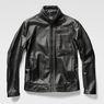 G-Star RAW® Re 3D Leather Biker Jacket Black model side
