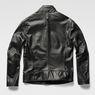 G-Star RAW® Re 3D Leather Biker Jacket Black model back