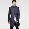 G-Star RAW® James Check Trench Dark blue model front