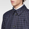 G-Star RAW® James Check Trench Dark blue flat front