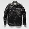 G-Star RAW® A Crotch Varsity Snap Lightweight Jacket Black model front