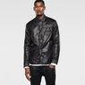 G-Star RAW® A Crotch Varsity Snap Lightweight Jacket Black model side