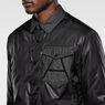 G-Star RAW® A Crotch Varsity Snap Lightweight Jacket Black flat back