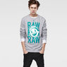 G-Star RAW® Round Neck Sweat Grey model side